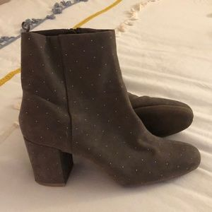 Old Navy Brown Studded Booties